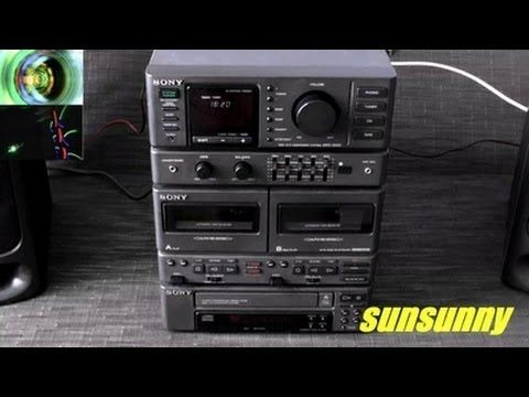 Led Le Brummt sony mhc 2500 mini hi fi component system stereos