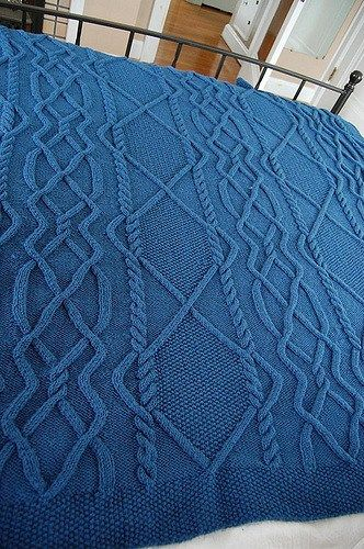 Cable Afghan Knitting Patterns | Pinterest | Stricken decken, Decken ...
