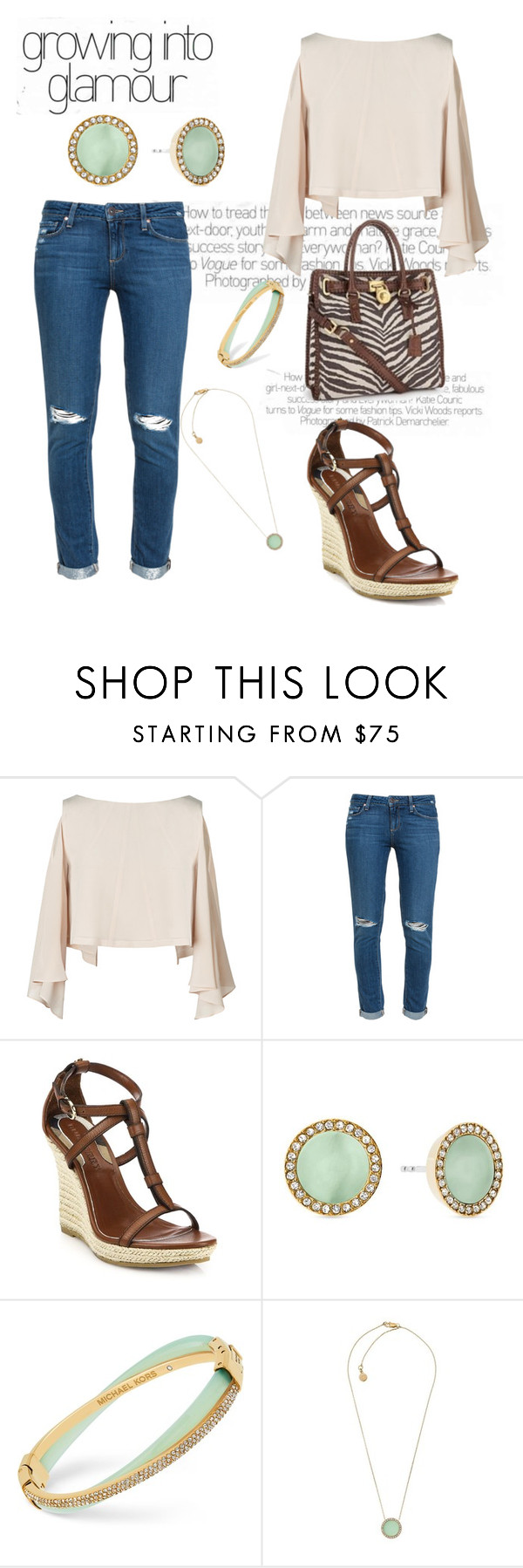 """""""Untitled #2810"""" by janicemckay ❤ liked on Polyvore featuring KORS Michael Kors, Paige Denim, Burberry and Michael Kors"""