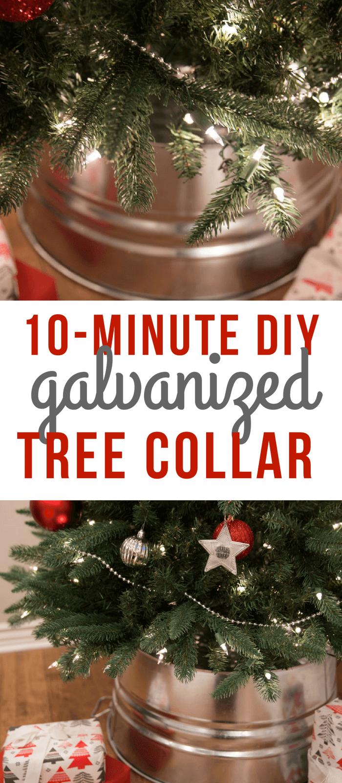 6 Best Galvanized Tree Collars Plus Diy Option Sofestive Com Cheap Christmas Trees Simple Christmas Tree Tree Collar Christmas