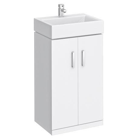 Nova High Gloss White Floor Standing Basin Unit W450 X D310mm