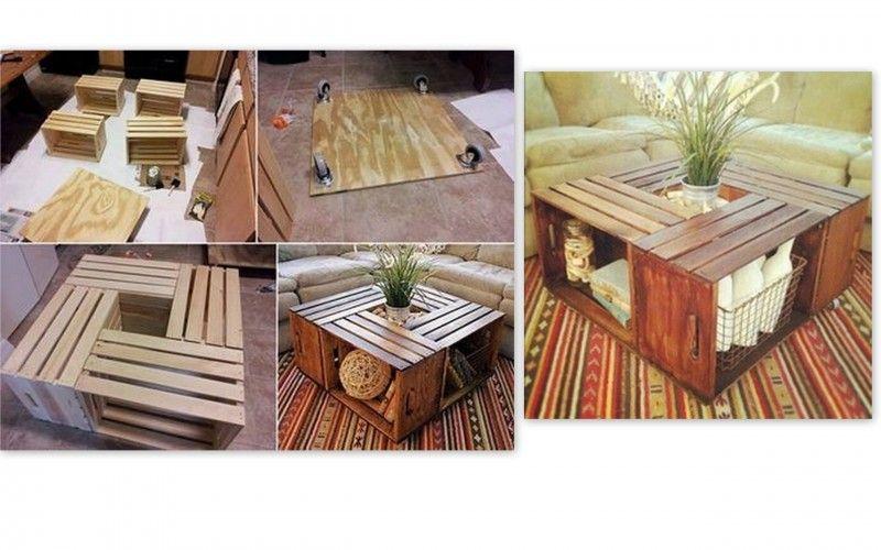 como crear muebles auxiliares con cajas y palés de madera  DIY