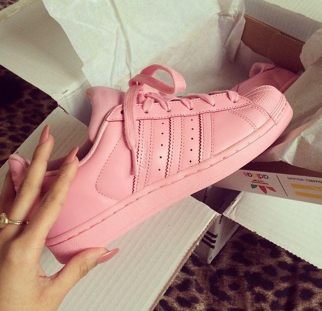 adidas superstar color rosa claro