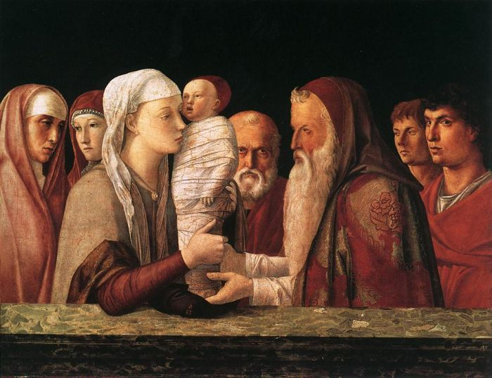 Presentation at the Temple by BELLINI, Giovanni #art