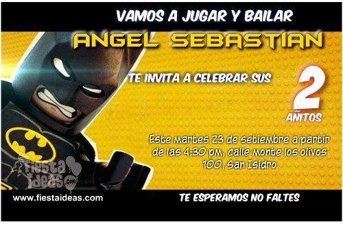 tarjetas de batman lego invitaciones de cumpleaños gratis en 2019 Lego Batman, Batman y Santiago