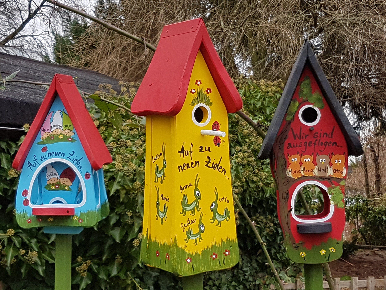Vogelhaus Geschenk Abschied Erzieherin Nistturmchen Original Vogelvilla Bird Houses Nursery Gift Handmade Birdhouses