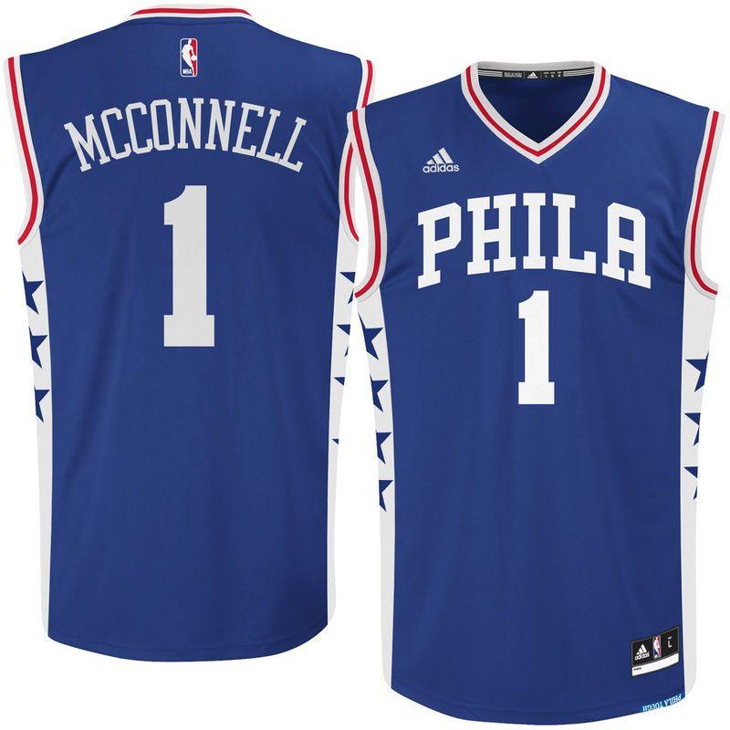 TJ McConnell Philadelphia 76ers adidas Road Replica Jersey - Royal