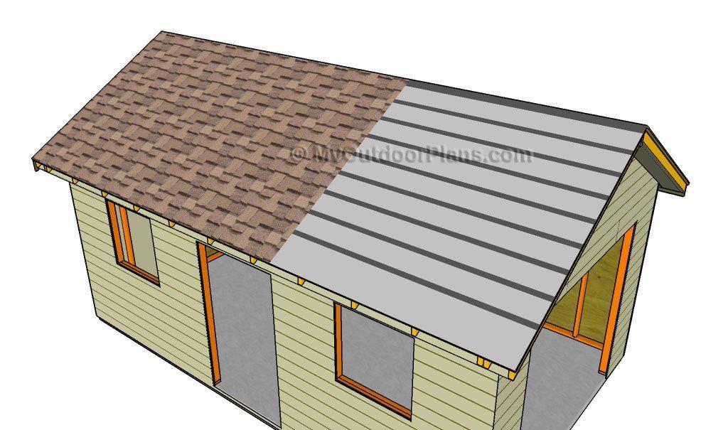 Garage Roof Plans MyOutdoorPlans Free Woodworking