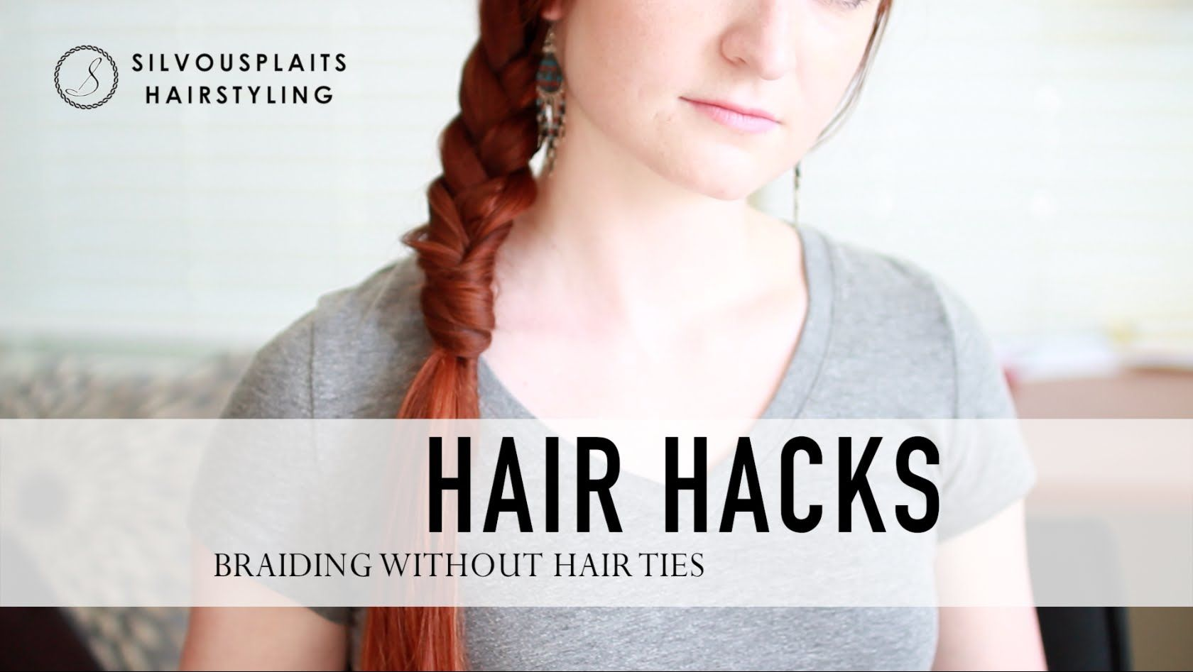 A Quick Easy Hair Hack For Securing A Braid With No Hair Ties Or Elastics Super Fast To Do And Just About Anyone Can Do Hair Hacks Hair Ties Quick