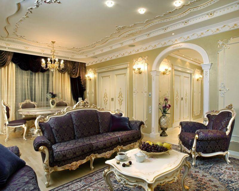Baroque Style Living room interior design | Baroque Interior ...