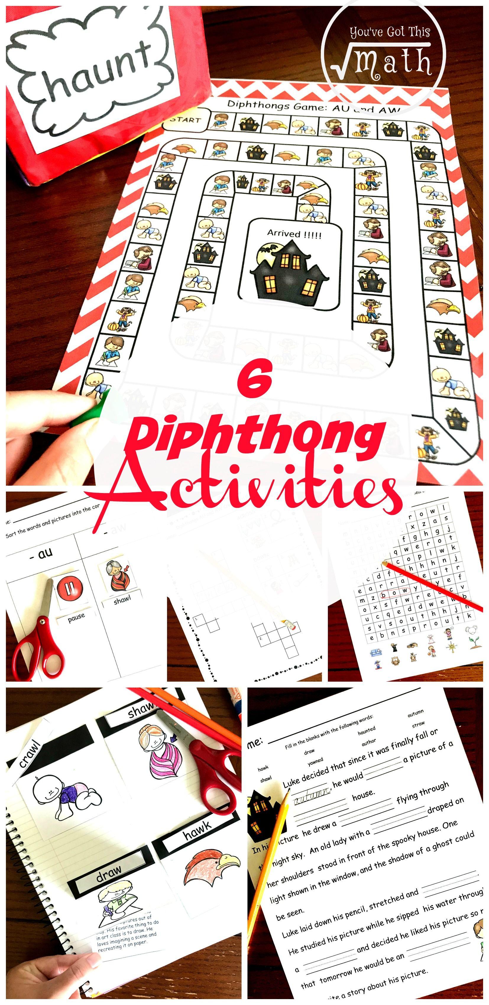 6 Diphthong Activities