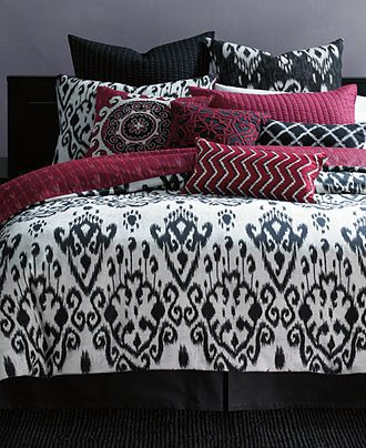 Inc International Concepts Bedding Ikat Queen Duvet Cover