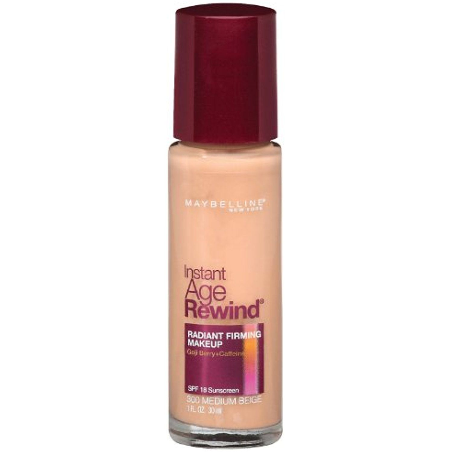 Maybelline New York Instant Age Rewind Radiant Firming Makeup Medium Beige 300 1 Fluid Ounce P Maybelline Instant Age Rewind No Foundation Makeup Age Rewind