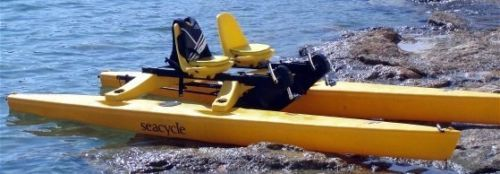Storing Bikes On Boats: Sea Cycle TWIN Pontoon Catamaran Pedal Paddle Boat Water