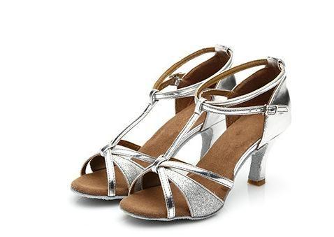 Latin Salsa Tango Very Fine Competitive Dance Shoes SERA1700 Black Gold Silver