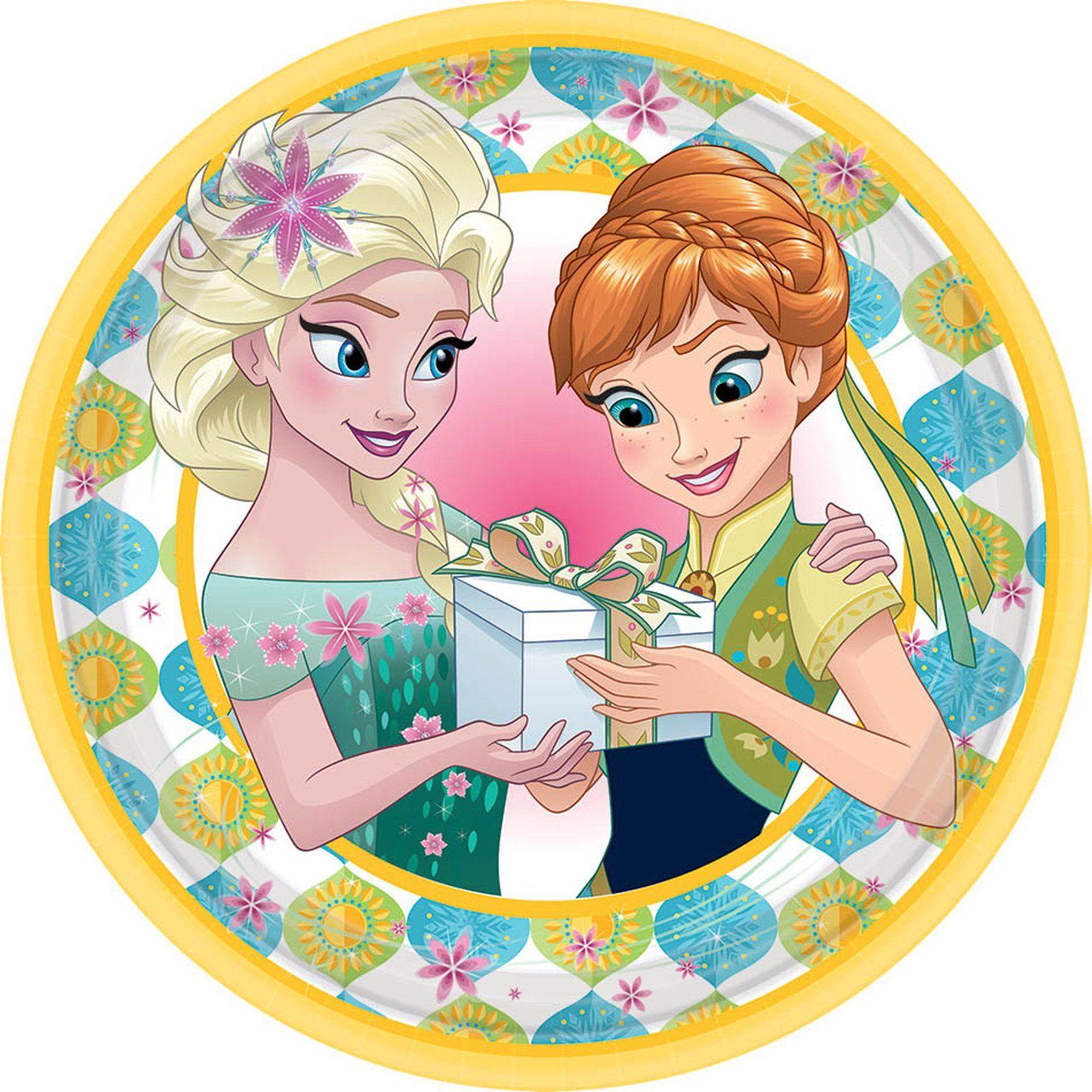 Disney Frozen Fever Dessert Plates
