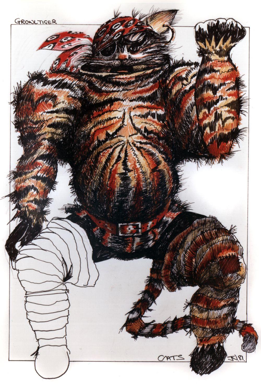 Growltiger John napier, Cats musical, Costume design