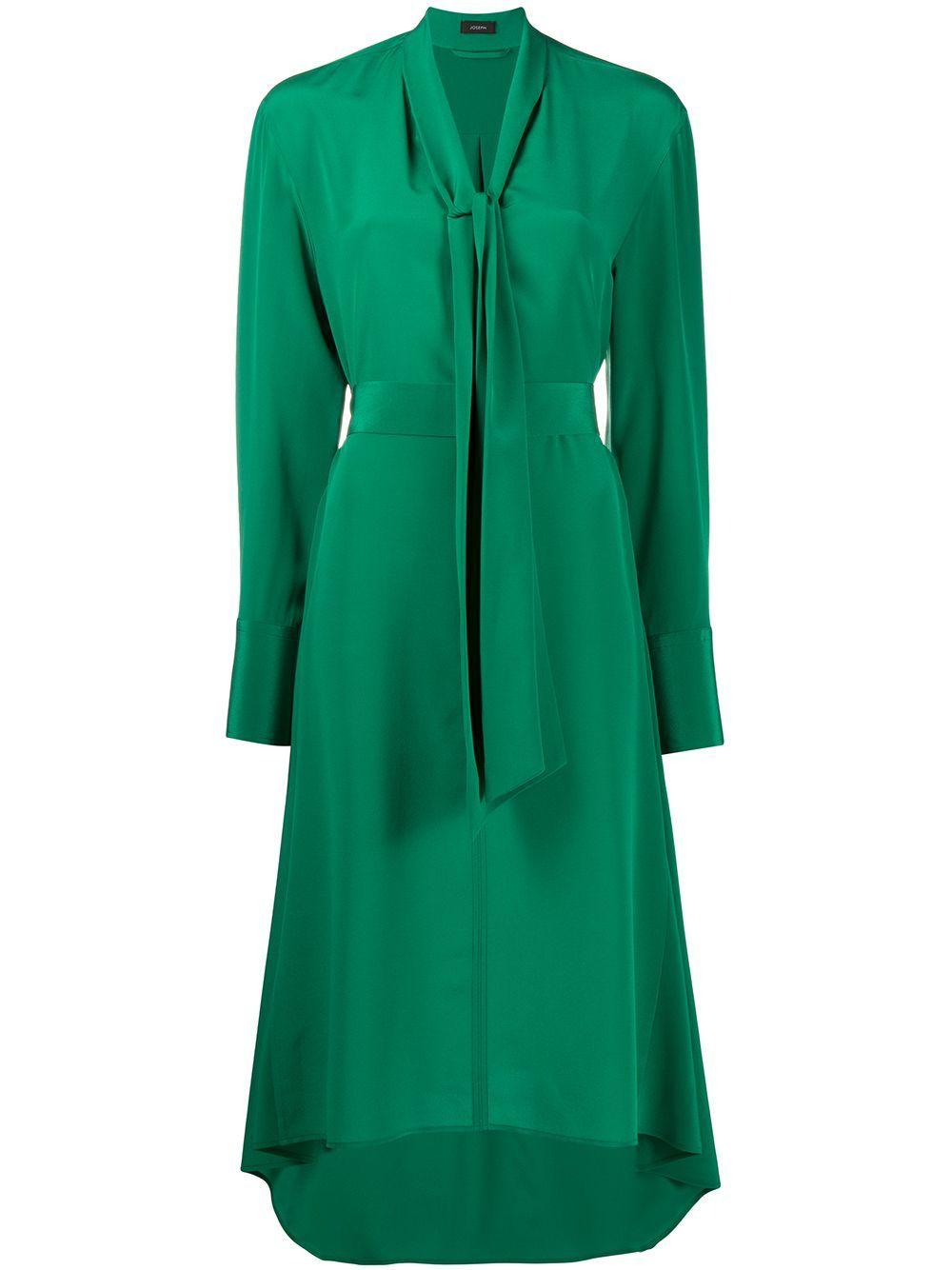 Joseph Long Sleeve Midi Dress Farfetch Long Sleeve Midi Long Sleeve Midi Dress Silk Dress Long [ 1334 x 1000 Pixel ]