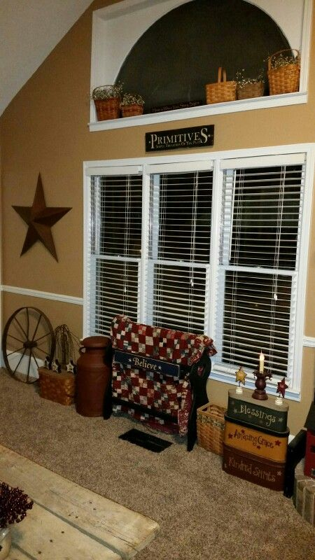 primitive pictures for living room interior design images prim love it especially the open shelving above window