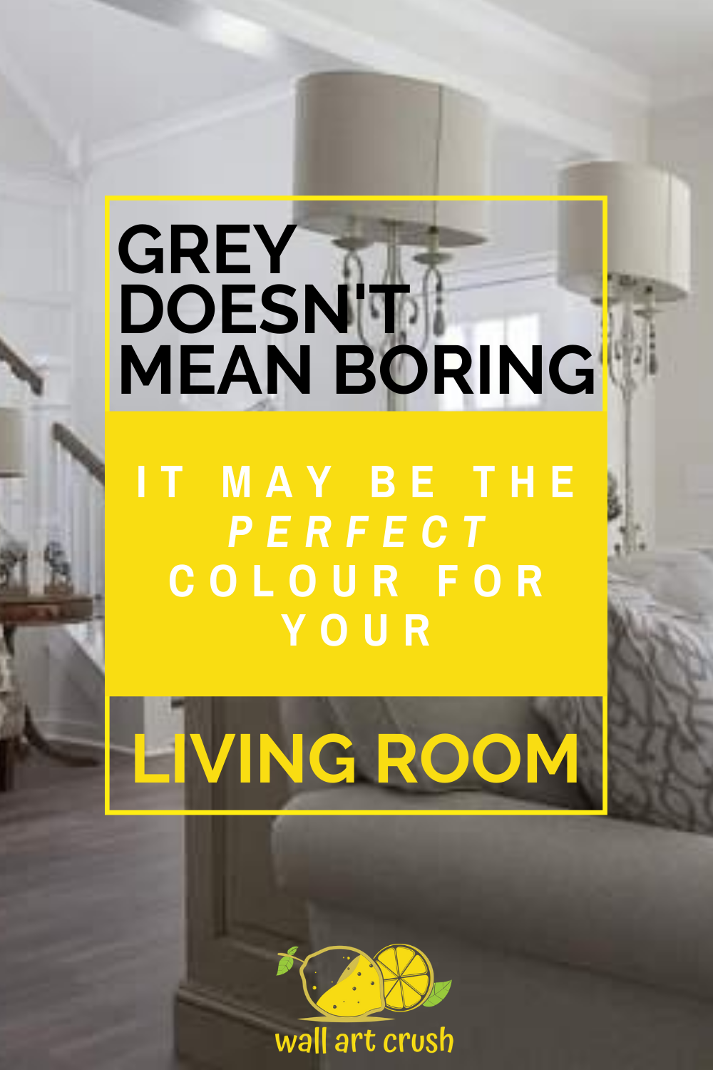 Think grey is a boring living room decor? Think again! Grey is a wonderful & versatile idea that suits any colour scheme & palette. It's ideal for a living room, whether you use it on the walls or as a decor accent, grey will mix & match with any decorating style. #greylivingroom #livingroomdecor #greydecor #greylivingroomideas