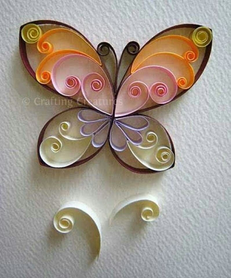 .Toilet Paper Rolls craft: butterfly