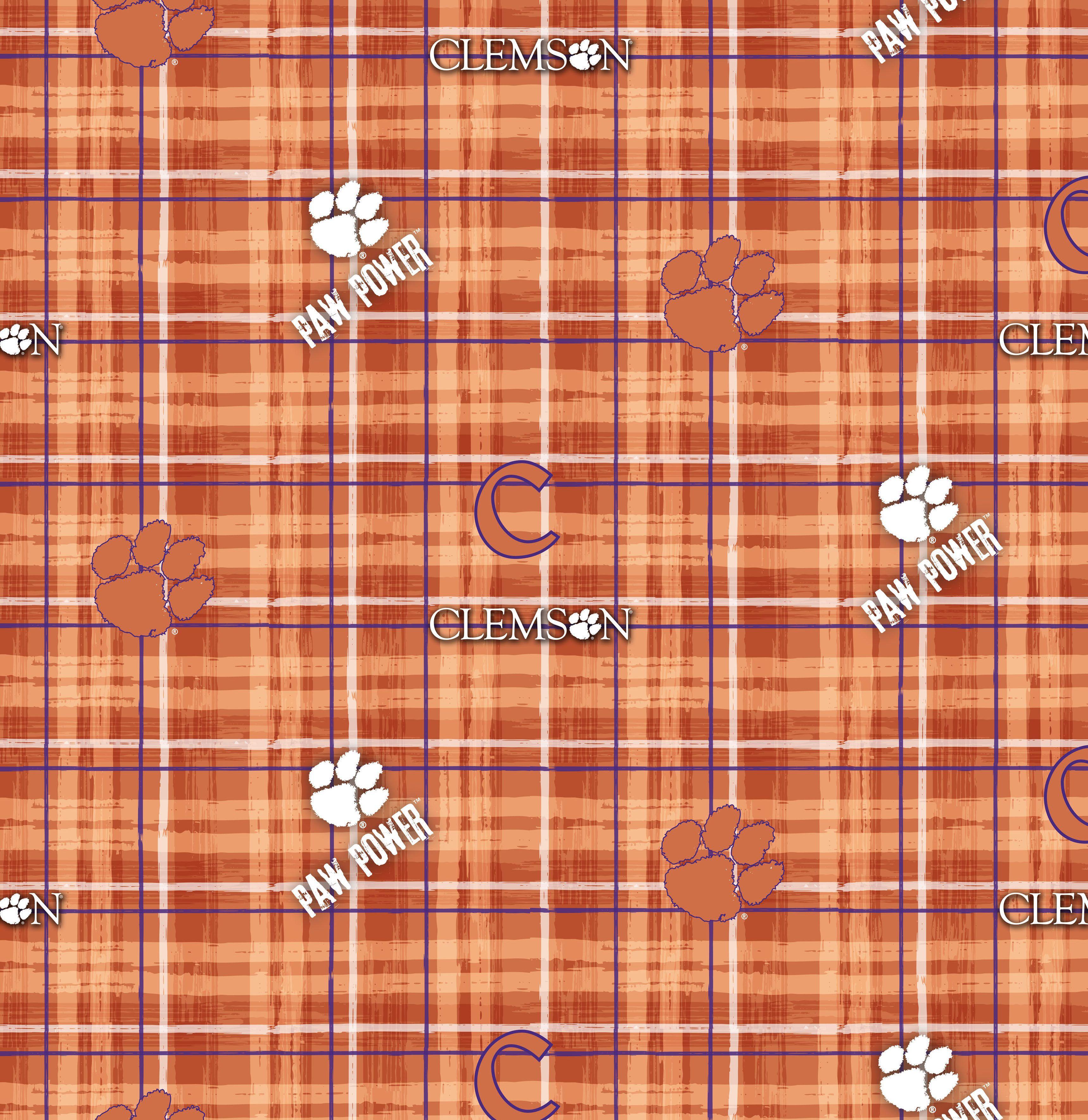 d329d6ce91e Clemson University Tigers Cotton Fabric 44