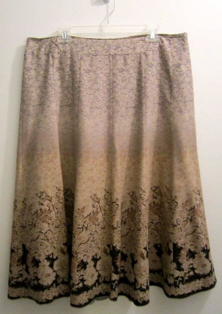 8a18b4b0be Coldwater Creek Modest Skirt Womens XL 18 #ColdwaterCreek #Pleated