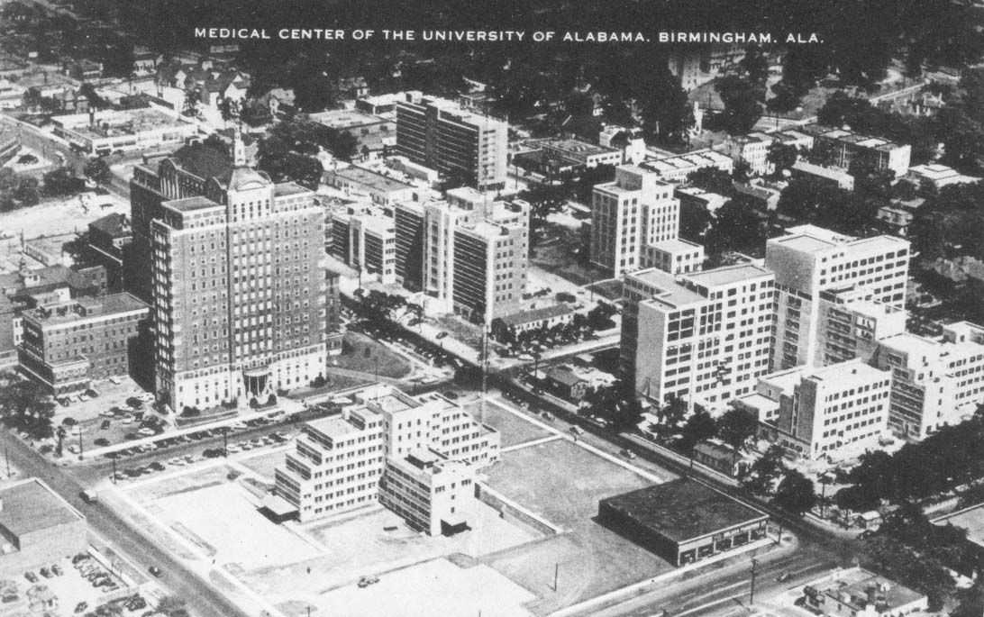 UAB Medical Center - early 1960s  The VA Hospital (right