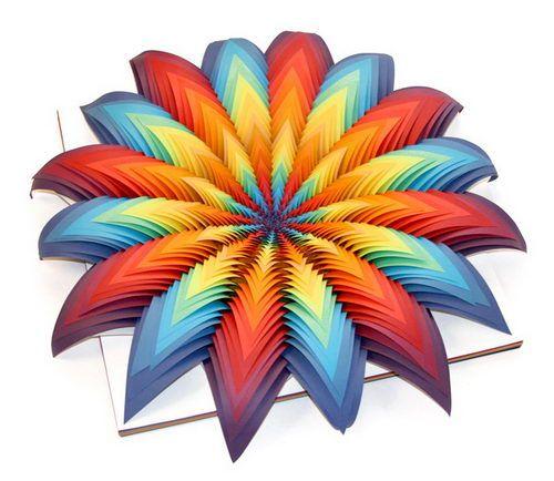 Jen Stark Sculpture Paper Flower From Layers Of Paper Sculpture - Mesmerising hand crafted paper sculptures jen stark