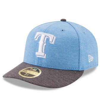 d96b00189a1a8 ... new era texas rangers heather blue fathers day 59fifty fitted hat  txrangers rangers ...