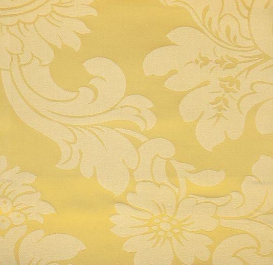 GOLD FLORAL DAMASK SILK JACQUARD CURTAIN CUSHION UPHOLSTERY FABRIC MATERIAL