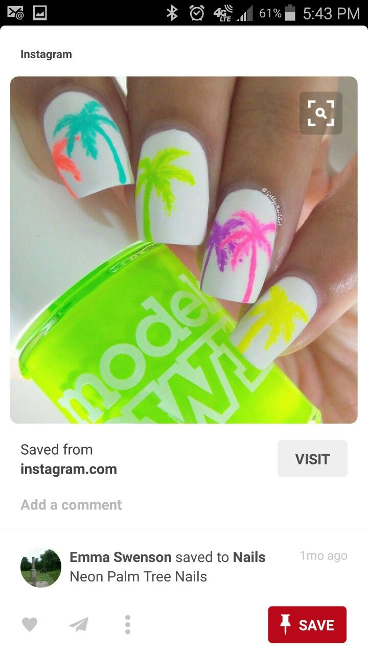 Love these for the beach | Nail\'ed it | Pinterest | Diseños de uñas ...