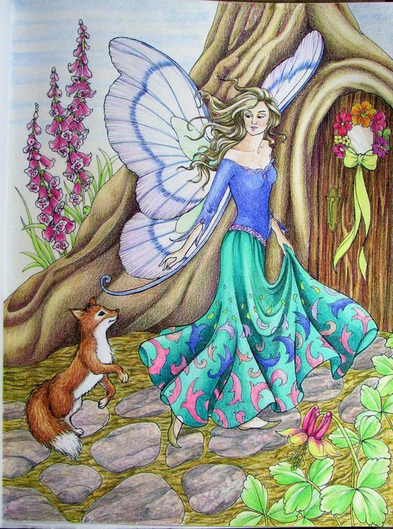 Pin by Elise Katherine on Fantasy | Fairy art, Fairy coloring