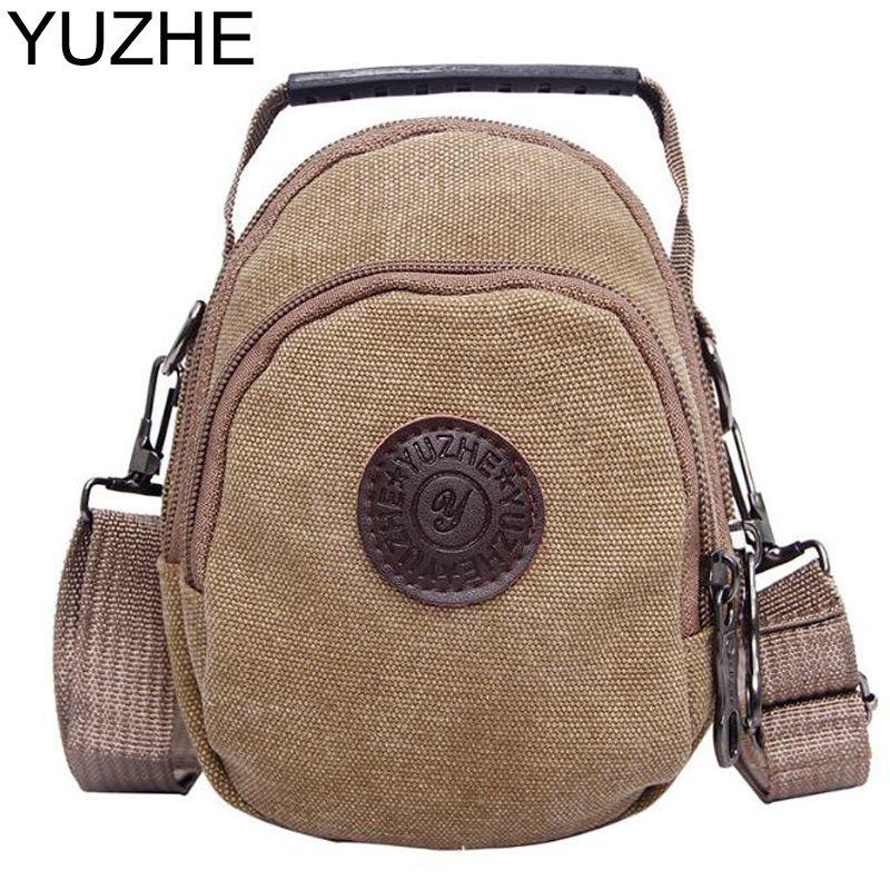 1a7f32e135 YUZHE brand Man Fashion Canvas Bag Men s Shoulder Bag Leather messenger bag  High Quality boy free