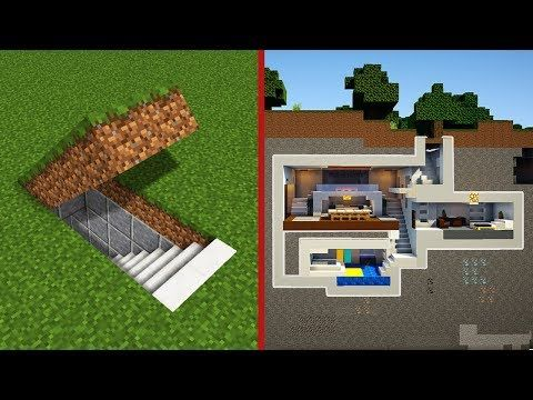 Minecraft How To Build A Modern Secret Base Tutorial Hidden