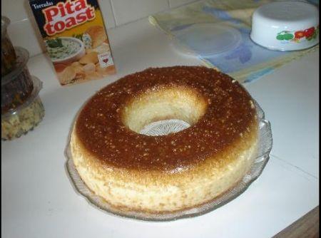 Receita de Pudim de Tapioca - pudim. Leve para assar em banho Maria em forno pré aquecido,a 180ºC por 1 hora e meia mais ou menos. Coloque um palito pra ver se o pudim esta...