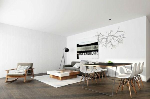 . modern design living room lighting central reading area Some living