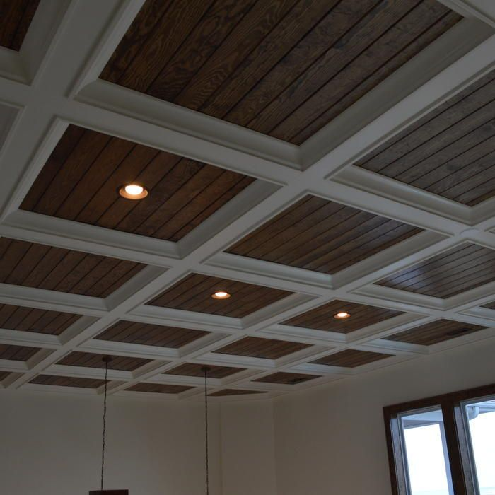 Craftsman Style Vaulted Ceiling Drop Soffit Trim - Google Search