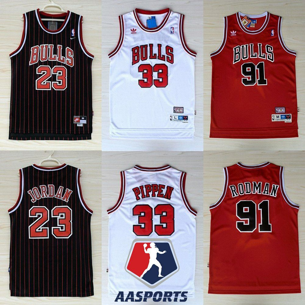 3008787d4 Camisa Chicago Bulls - Hardwood Classics - 33 Scottie Pippen - 91 Dennis  Rodman - 23