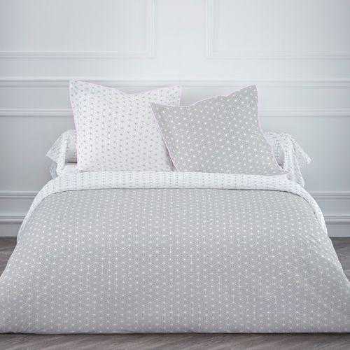 housse de couette en coton gris rose imprim scandinave starla perso d co pinterest gris. Black Bedroom Furniture Sets. Home Design Ideas