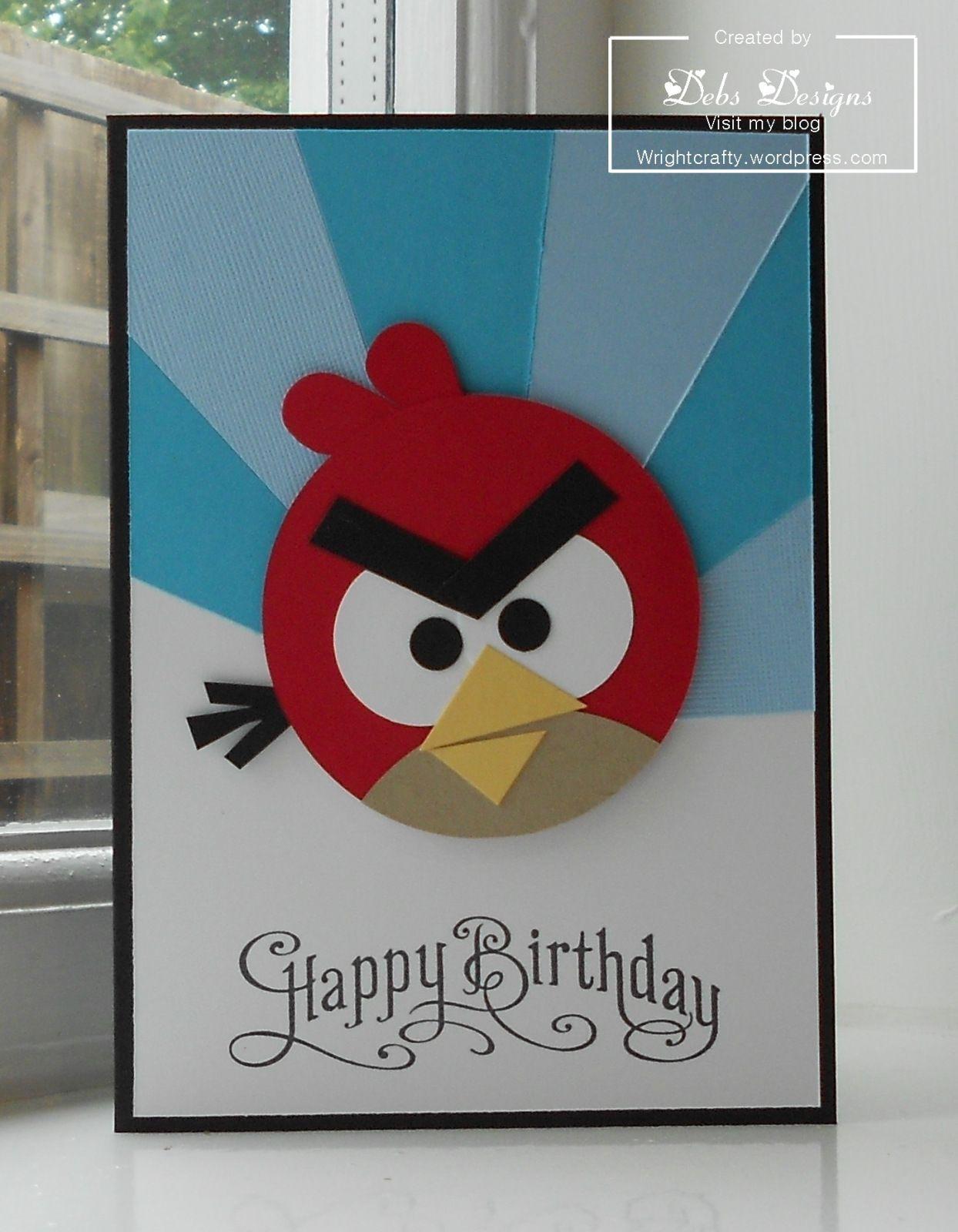 Angry Bird Birthday Card Drawing Handmade Birthday Cards Birthday Cards For Boys