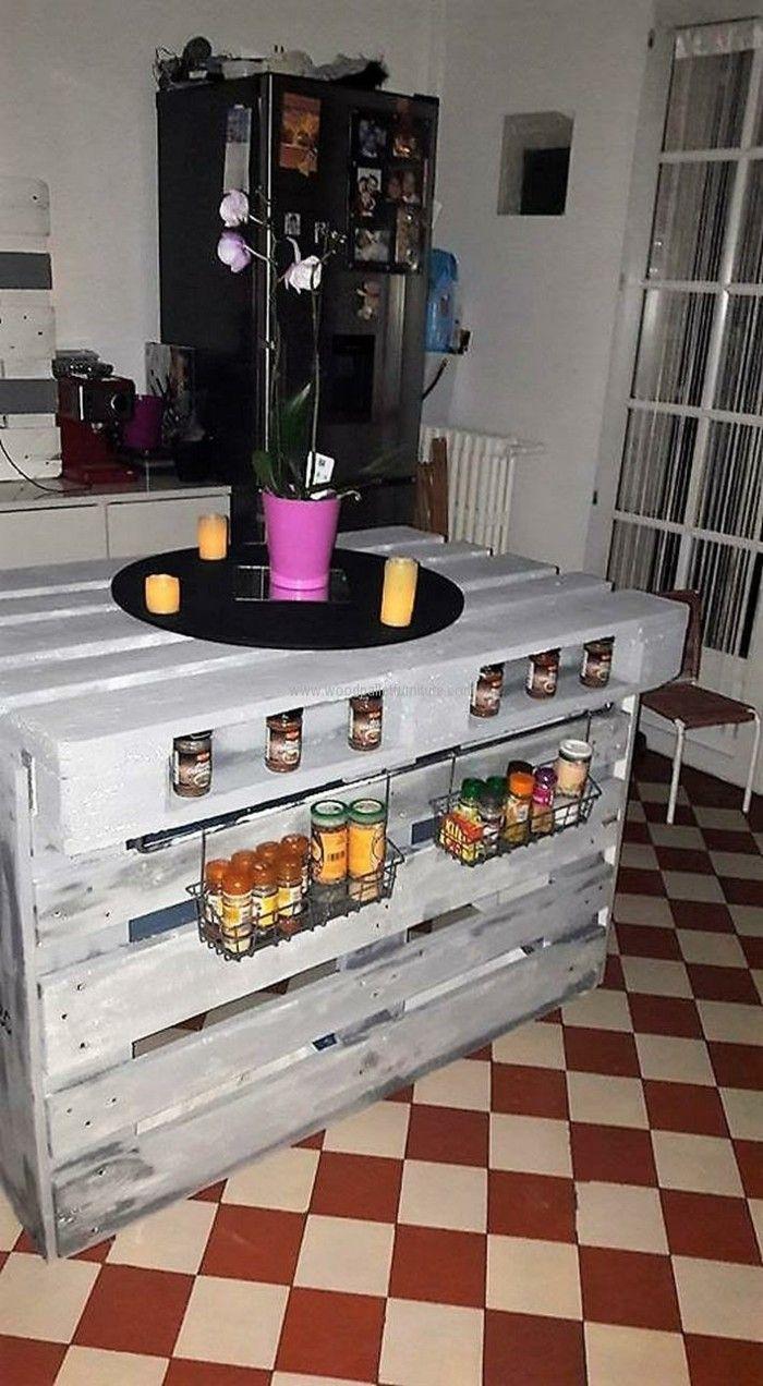 kücheninsel bauen mit europlatten | Möbel aus Paletten | Pinterest ...