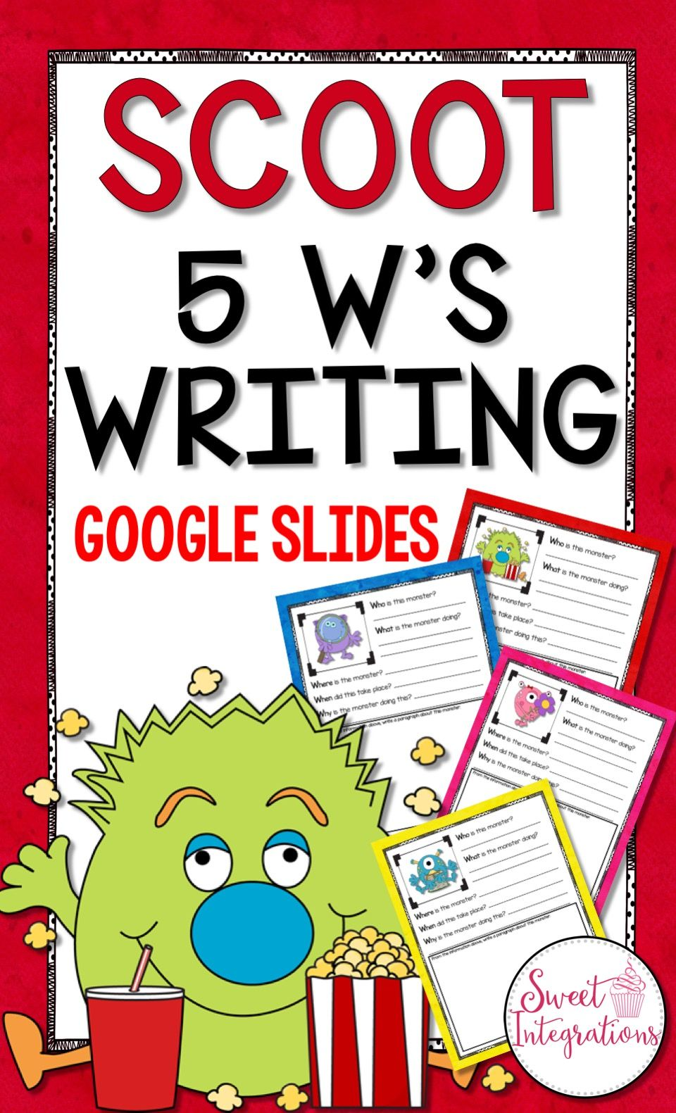 DIGITAL SCOOT WRITING GAME 5 W's Using Google Slides