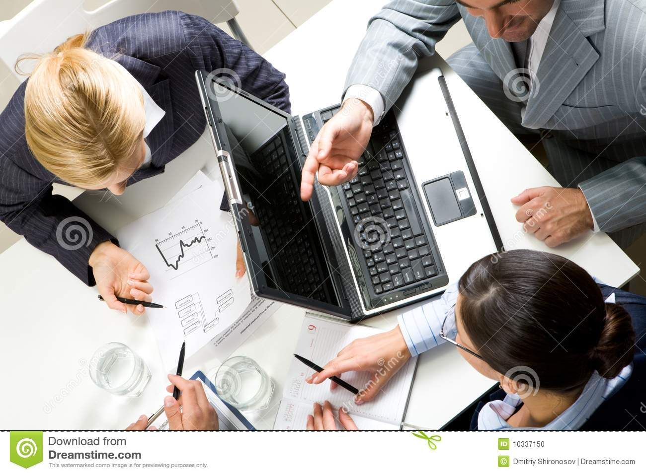 At Meeting Above View Of Business People Working With Documents At Meeting Sponsored Ad Advertisement View Documents Work Stock Photos Photo Image At meeting or in meeting