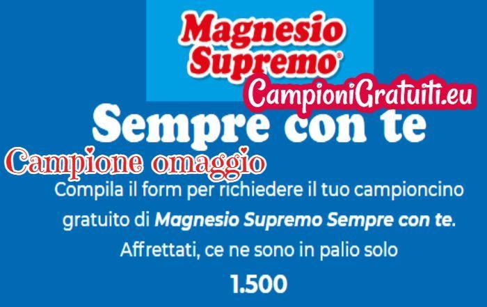 Campione gratuito Magnesio Supremo Sempre con te