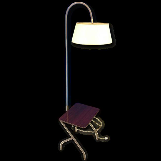 lampadaire liseuse avec tablette vintage 60 vendu par l. Black Bedroom Furniture Sets. Home Design Ideas