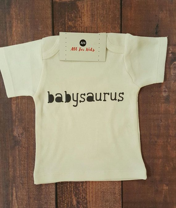 Check out this item in my Etsy shop https://www.etsy.com/listing/508545577/baby-clothes-babysaurus-shirt