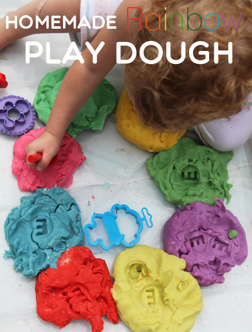 Homemade Rainbow Play Dough Play Group Party in 2020
