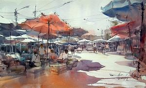 Nice watercolor in today's Daily Art Show | FASO