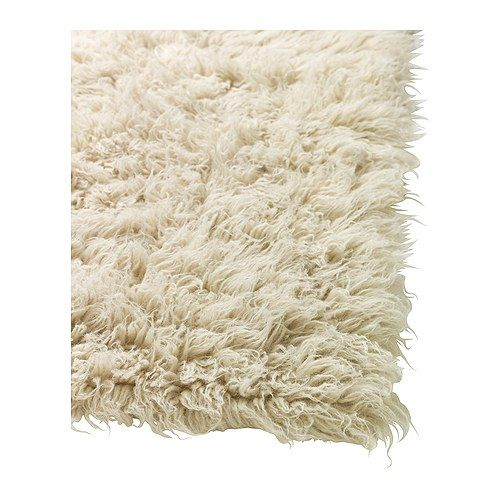 Dum tappeto pelo lungo blu scuro wool white rug and - Alfombra adum ikea ...